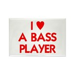 I LOVE A BASS PLAYER Rectangle Magnet (100 pack)