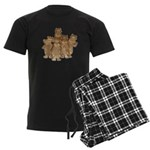 Gold Cows Men's Dark Pajamas