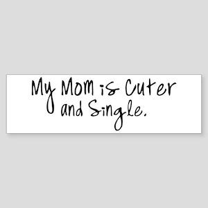 Cute Single Mom Sticker (Bumper)