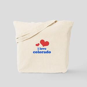 I Love Colorado Tote Bag