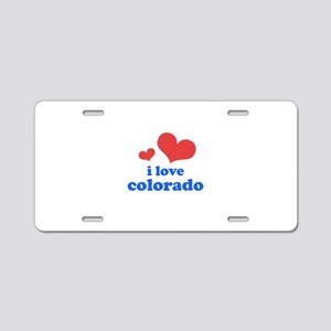 I Love Colorado Aluminum License Plate