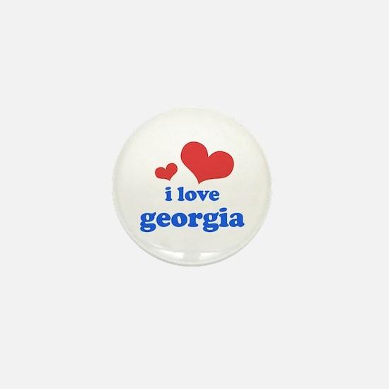 I Love Georgia Mini Button