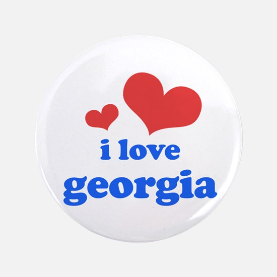 "I Love Georgia 3.5"" Button"