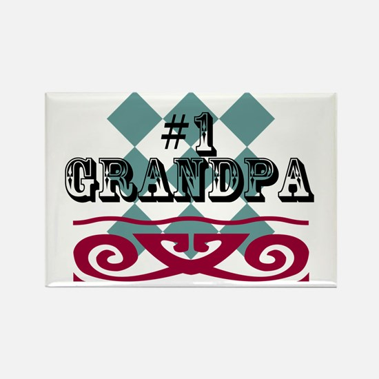 Number One Grandpa Rectangle Magnet