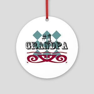 Number One Grandpa Ornament (Round)