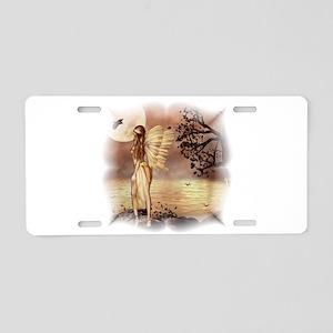Fall Night Fairy Aluminum License Plate
