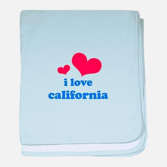 I Love California baby blanket