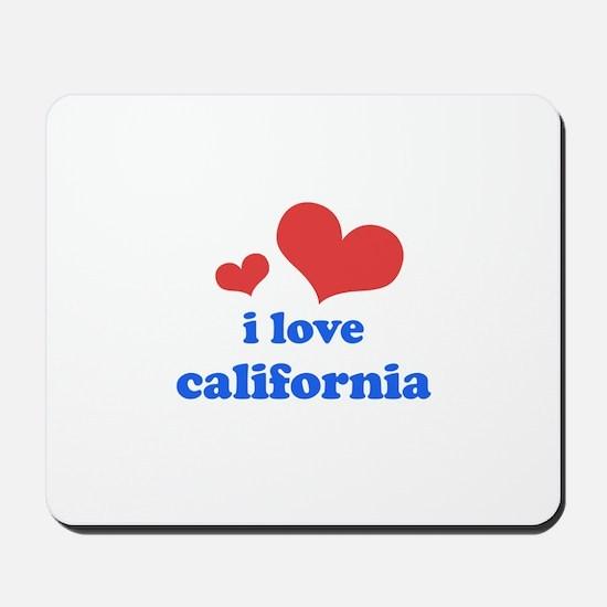 I Love California Mousepad