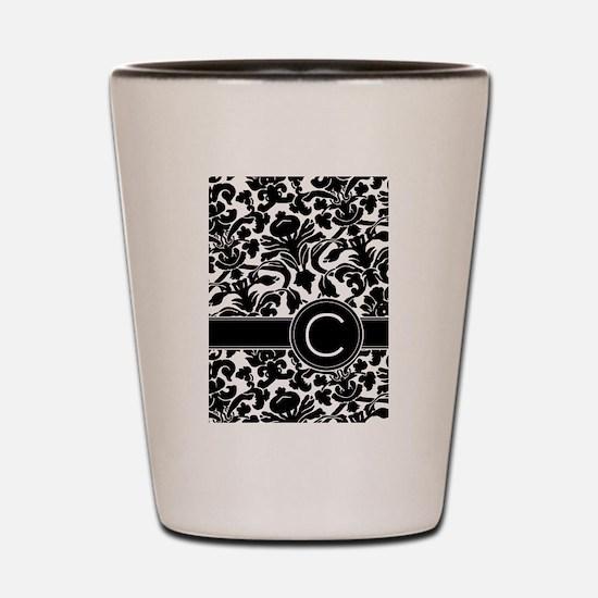 Monogram Letter C Shot Glass