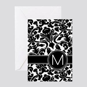 Monogram Letter M Greeting Card