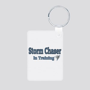 Storm Chaser In Training Aluminum Photo Keychain