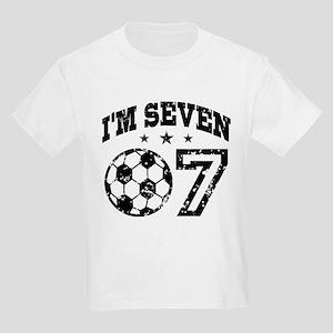 Seven Year Old Soccer Kids Light T Shirt