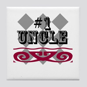 Number One Uncle Tile Coaster