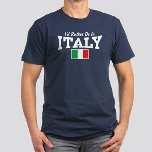 I'd Rather Be In Italy Men's Fitted T-Shirt (dark)