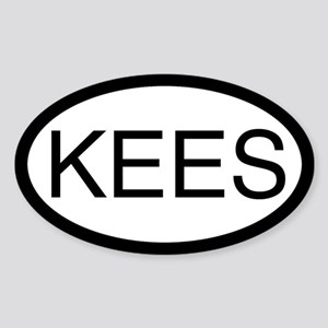 KEES (Keeshond) Oval Sticker