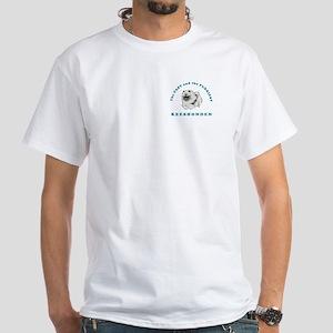 Fast & Furriest Keeshonden White T-Shirt