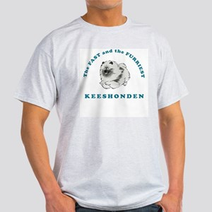 Fast & Furriest Keeshonden Ash Grey T-Shirt