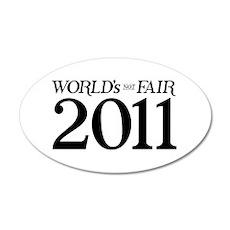 World's Not Fair 22x14 Oval Wall Peel
