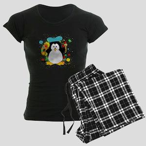 Artistic Penguin Women's Dark Pajamas