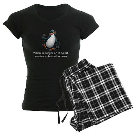 Screaming Penguin Women's Dark Pajamas