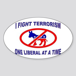 USA TERRORISTS Sticker (Oval)
