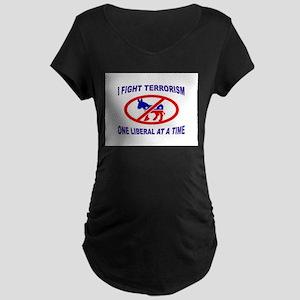 USA TERRORISTS Maternity Dark T-Shirt