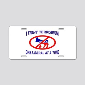USA TERRORISTS Aluminum License Plate