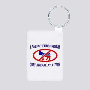 USA TERRORISTS Aluminum Photo Keychain