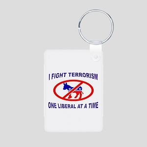USA TERRORISTS Aluminum Photo Keychain