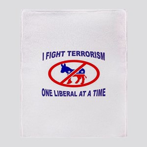 USA TERRORISTS Throw Blanket