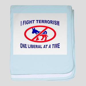 USA TERRORISTS baby blanket