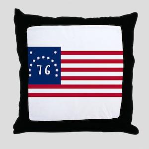 Bennington American Flag Throw Pillow