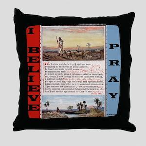 Psalm 23 Prayer Throw Pillow
