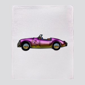 small classic sports car Throw Blanket