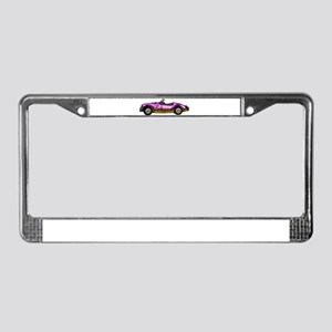 small classic sports car License Plate Frame
