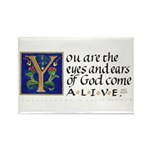Eyes And Ears Of God Rectangle Magnet