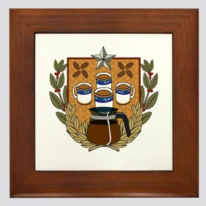 Coffee Crest Framed Tile