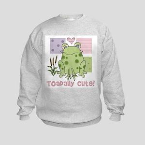 Toadally Cute Kids Sweatshirt