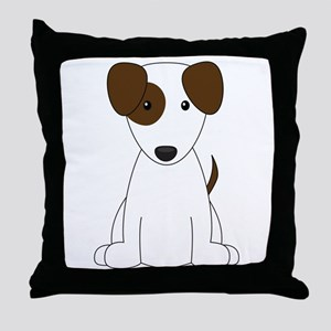 Cartoon Jack Russell Terrier {brown} Throw Pillow