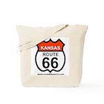 Kansas Route 66 Tote Bag
