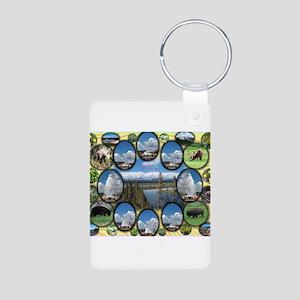 Yellowstone Park Aluminum Photo Keychain