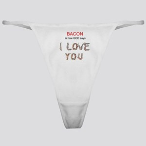 God's Bacon Love Classic Thong