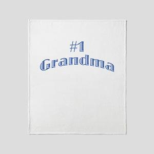 #1 Grandma Throw Blanket