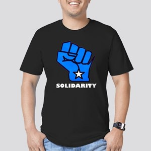 Solidarity Fist Men's Fitted T-Shirt (dark)