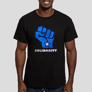 Solidarity Fist Men's Fitted T-Shirt (dark)