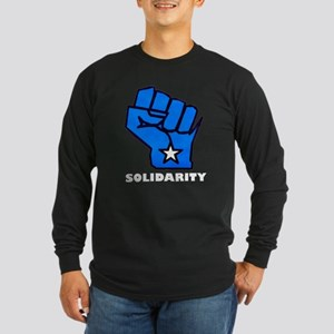 Solidarity Fist Long Sleeve Dark T-Shirt