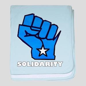 Solidarity Fist baby blanket