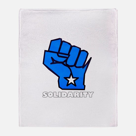 Solidarity Fist Throw Blanket