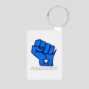 Solidarity Fist Aluminum Photo Keychain
