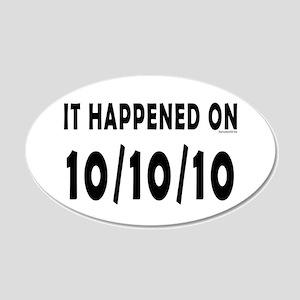 10/10/10 22x14 Oval Wall Peel
